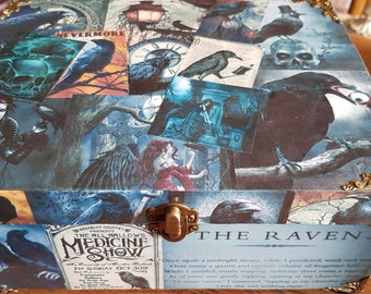 The Raven gothic jewelry/storage/trinket/keepsake handmade decoupage box