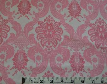 ITEM 237, 100% Cotton Fabric, Waverly, Pink and White, 1 yard