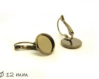 10 PCs high quality wires gunmetal black for 12 mm cabochon