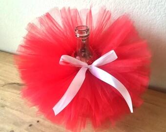 Valentine tutu, red tutu with white bow, red Valentine tutu, girls tutu, red and white tutu, photo prop tutu, first Valentine, baby tutu