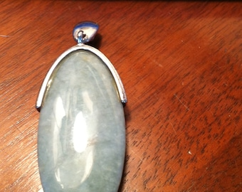 Amazonite and Sterling Silver Pendant
