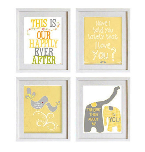 Items similar to typography quote, gray white yellow, emotional love ...