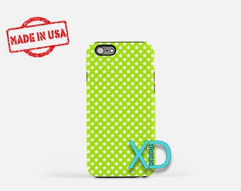 Lime Star Phone Case, Lime Star iPhone Case, Cool iPhone 7 Case, Green, Cool iPhone 8 Case, Lime Star Tough Case, Clear Case, Outerspace