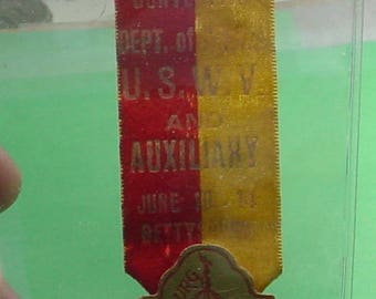 United Spanish War Veterans Badge/Ribbon for 13th Reunion 1913 Gettysburg What you see is what you get.<>ETB 6793