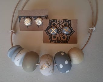 Chunky Necklace set in neutral colours