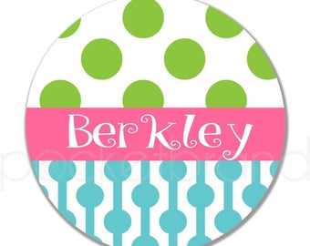 Personalized Plate -Polka Dot Plate - Plate - Bowl - Child Birthday Gift - Personalized Toddler Gift - Child Christmas Gift - pocketbrand