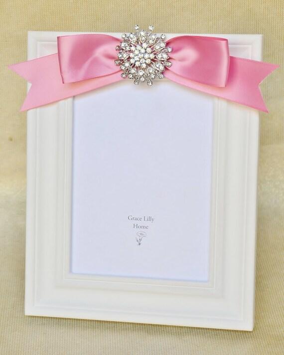 Pink Nursery Decor Girl Baby Gift Ideas Picture Frame Shower Newborn ...