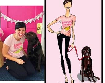 Pet Illustration, custom pet illustration, custom pet sketch, pet portrait, custom pet portrait