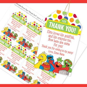 EDITABLE Name PDF Favor Tag  / Thank YouTag /  loves his goldfish and crayons too / Instant Download