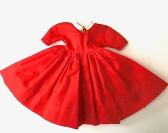 "Original Vintage Dress for 8"" Madame Alexander ""Little Women Jo"" Doll"