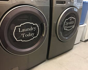 Laundry Vinyl Decal/ Washer Dryer Decals