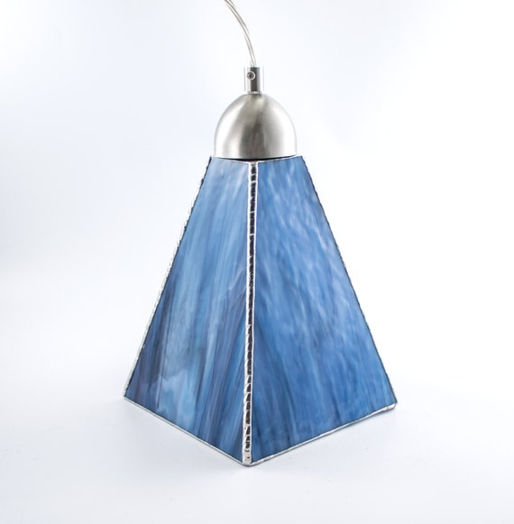 Stained Glass Pendant Light Unique Ceiling Fixture Glass