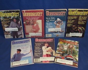 WORKBASKET and Home Arts MAGAZINE 1985 Set of 7 Issues