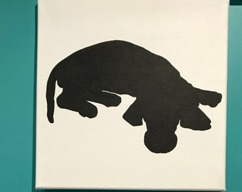 Hand Painted Custom Canvas Pet Silhouette