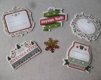 new 5 x mixed shapes of cuts + 1 snowflake gold Christmas themed