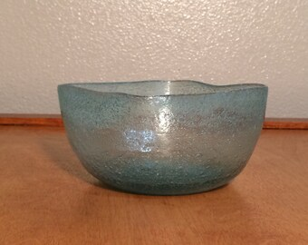 Victorian Blue Bubble Candy Square Bowl