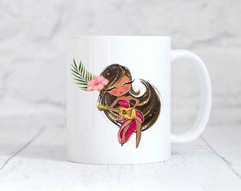 Hula Girl Mug, Hula Girl, Hawaii Gifts, Hula Cup, Hula Coffee Mug, Hawaii, Hawaii Cup, Hawaii Mug, Tropical, Gift for Her, Teacher Gift
