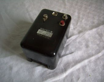 Vintage industrial switch, electrical switch, switch french/Switzerland