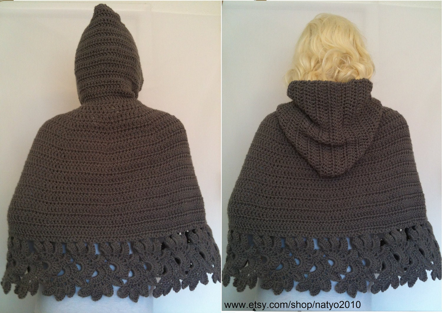 Instant download crochet hooded cape pattern pdf unic size zoom bankloansurffo Image collections
