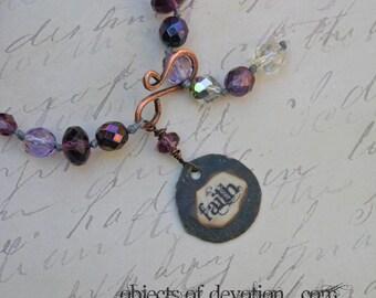 FOI * inspiration bijoux * Inspirational Gift * Bracelet religieux * foi bijoux * cadeau religieux * Bracelet noués à la main de l'Artisan *