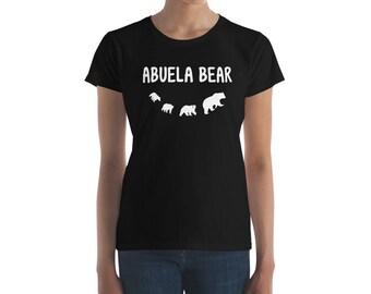 Abuela Bear Spanish Grandmother Of Three Grandchildren Women's short sleeve t-shirt