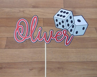 CLEARANCE. Oliver Dice Cake Topper
