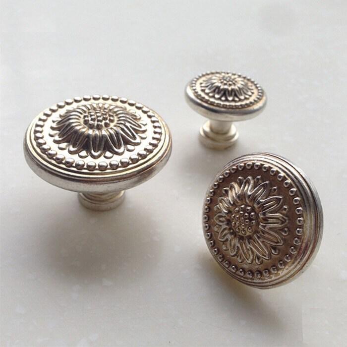 Kommode Knöpfe Antik Silber Gold Schublade zieht Knöpfe Griffe