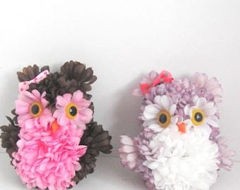 Owl decorations,  unique owl decoration, owl theme decoration, nursery decoration,  Owl ornament, wall hanging owls, home decoration