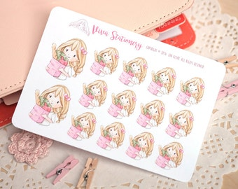 Kawaii Girl Grocery Store Decorative Stickers ~ Valerie ~ For your Life Planner, Diary, Journal, Scrapbook...