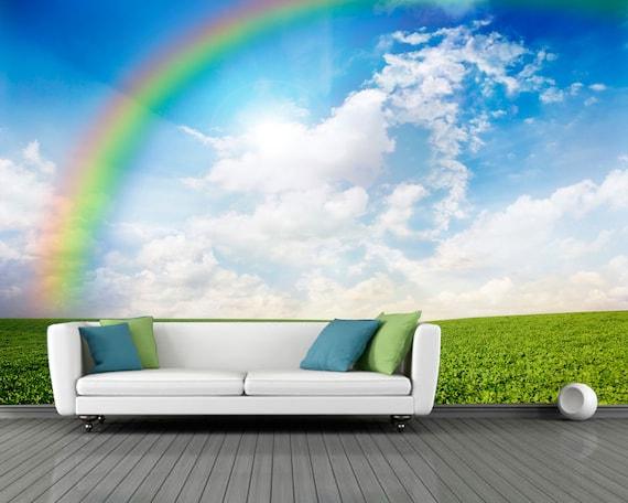 Green Field Window Wall Mural by MuralsWallArt