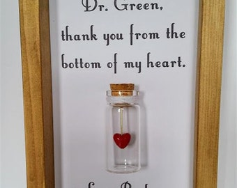 Gift for doctor, Surgeon gift, Thank you gift for doctor, Nurse thank you gift. Add names or your own message.jh