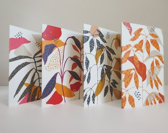 Set of 4 Botanica Cards