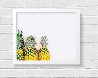 Pineapple Print   Pineapple Decor   Pineapple Wall Decor   Pineapple Wall Art   Tropical Wall Art   Tropical Decor   Tropical Party Decor