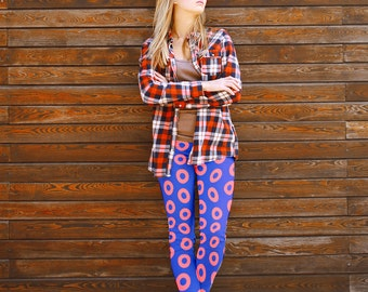 Donut Leggings, Fun Leggings, Yoga Pants, Women Leggings, Colorful Leggings, Fun Yoga Pants, Unique Yoga Leggings, Yoga Leggings Pattern