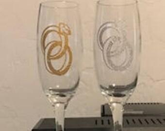 Wedding Ring Glasses