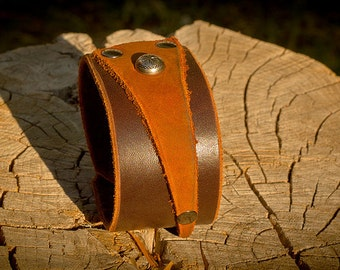 Double Layer Leather Cuff