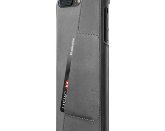 Mujjo Leather Wallet Case for iPhone 7 Plus - Gray