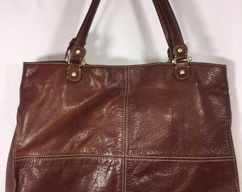 Vintage Brown Leather Liz Claiborne Handbag