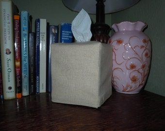 Blank Linen Tissue Box Cover -  Made To Order with NO MONOGRAMMING