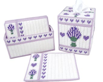 PATTERN: Lovely Lavender Set in Plastic Canvas