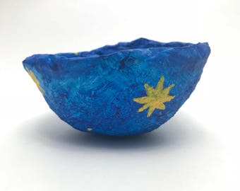 Lightweight, Durable, colorful, paper mache bowl