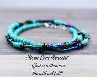 God is Within Her She will not fail Bracelet, God within her, Christmas Gift from Godmother Gift for Goddaughter Gifts, Gift from Godfather