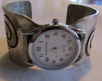 Sterling Silver Watch Bracelet Cuff