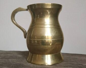 Vintage miniature tankard | brass stein | miniature mug | brass tankard