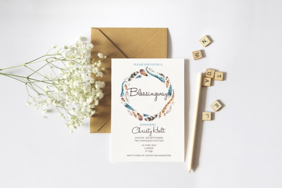 Blessingway Invitation Mother Blessing Invite Boho