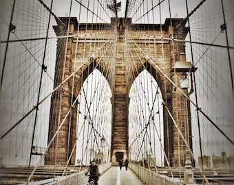 The Brooklyn Bridge I, Sepia