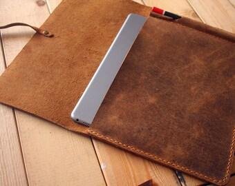 "Personalized New iPad Case Leather Covers, Apple Pencil Case, 10.5"" iPad Pro leather portfolio, Custom / 9.7"" 10.5"" 12.9"""