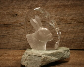 rabbit paper weight