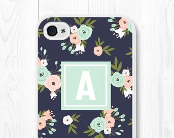 Floral Samsung Galaxy S7 Case Floral iPhone 6 Case Cute iPhone 5 Case Mint iPhone 6 Plus Case iPhone 5s Case Mint Samsung Galaxy S6 Case