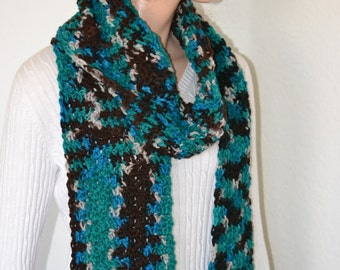 Crochet Scarf/ Spring Fashion Scarf/ Winter fashion scarf/ Gift for Her/ Christmas gift/ Gift idea/ High Fashion crochet scarf